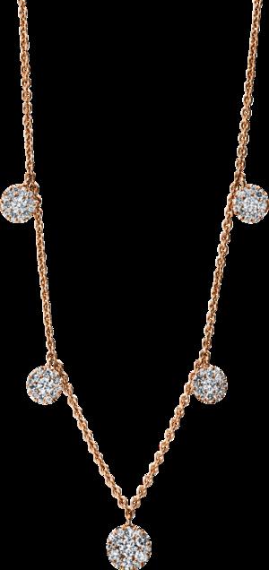 Halskette mit Anhänger Brogle Selection Illusion aus 750 Roségold mit 65 Brillanten (0,85 Karat)