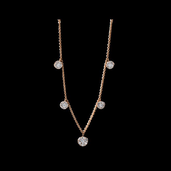 Halskette mit Anhänger Brogle Selection Illusion aus 750 Roségold mit 65 Brillanten (0,85 Karat) bei Brogle