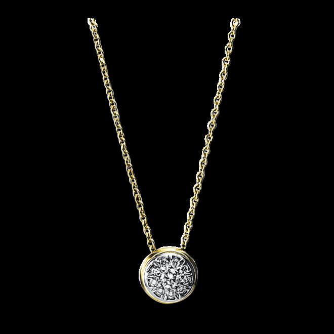 Halskette mit Anhänger Brogle Selection Illusion aus 585 Gelbgold und 585 Weißgold mit 10 Brillanten (0,12 Karat) bei Brogle