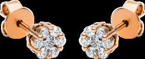 Ohrring Brogle Selection Illusion aus 750 Roségold mit 14 Brillanten (2 x 0,145 Karat)