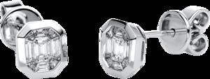 Ohrstecker Brogle Selection Illusion aus 585 Weißgold mit 18 Diamanten (2 x 0,195 Karat)