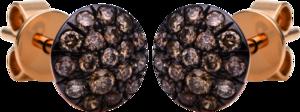Ohrstecker Brogle Selection Illusion aus 750 Roségold mit 36 Brillanten (2 x 0,175 Karat)
