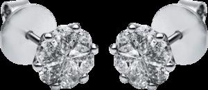 Ohrstecker Brogle Selection Illusion aus 750 Weißgold mit 12 Diamanten (2 x 0,505 Karat)