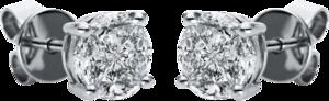 Ohrstecker Brogle Selection Illusion aus 750 Weißgold mit 8 Brillanten (2 x 0,465 Karat)