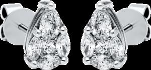 Ohrstecker Brogle Selection Illusion aus 750 Weißgold mit 10 Diamanten (2 x 0,435 Karat)