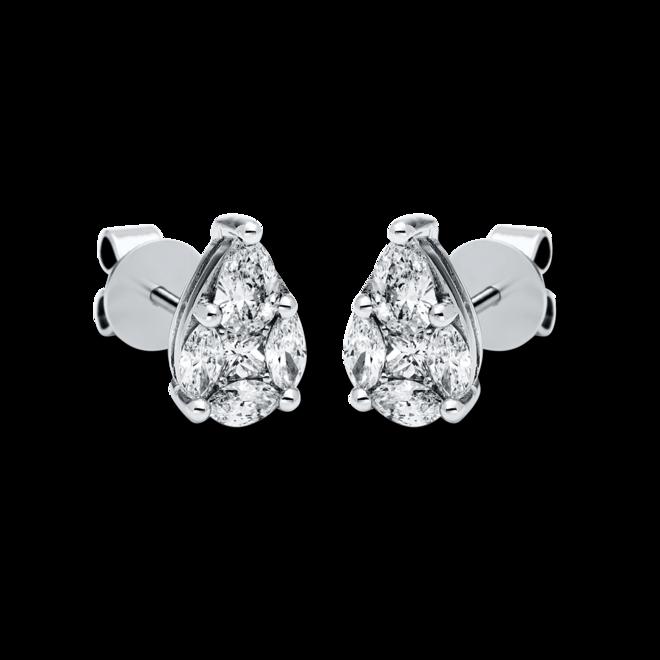 Ohrstecker Brogle Selection Illusion aus 750 Weißgold mit 10 Diamanten (2 x 0,435 Karat) bei Brogle