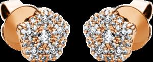 Ohrstecker Brogle Selection Illusion aus 750 Roségold mit 82 Brillanten (2 x 0,295 Karat)