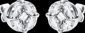 Ohrstecker Brogle Selection Illusion aus 750 Weißgold mit 10 Diamanten (2 x 1,055 Karat)