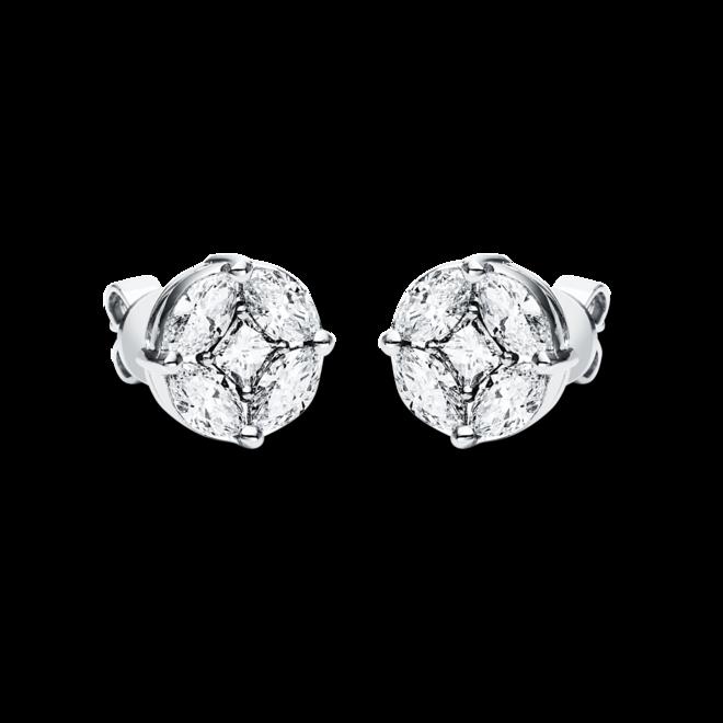 Ohrstecker Brogle Selection Illusion aus 750 Weißgold mit 10 Diamanten (2 x 1,055 Karat) bei Brogle