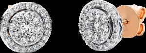 Ohrstecker Brogle Selection Illusion aus 750 Roségold und 750 Weißgold mit 62 Brillanten (2 x 0,505 Karat)