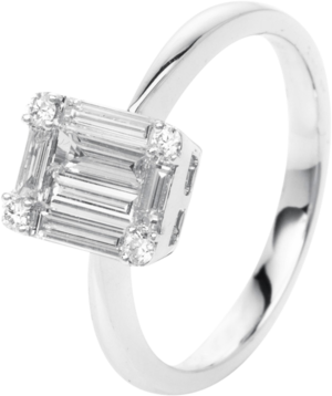 Ring Brogle Selection Illusion aus 750 Weißgold mit 10 Diamanten (0,69 Karat)