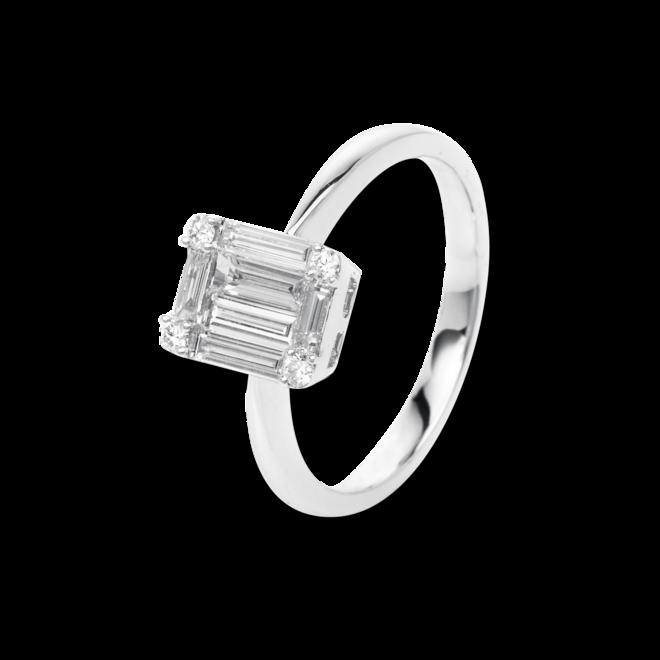 Ring Brogle Selection Illusion aus 750 Weißgold mit 10 Diamanten (0,69 Karat) bei Brogle
