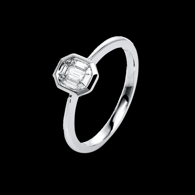 Ring Brogle Selection Illusion aus 585 Weißgold mit 9 Diamanten (0,24 Karat) bei Brogle