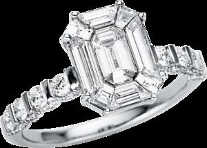 Ring Brogle Selection Illusion aus 750 Weißgold mit 99 Diamanten (1,65 Karat)