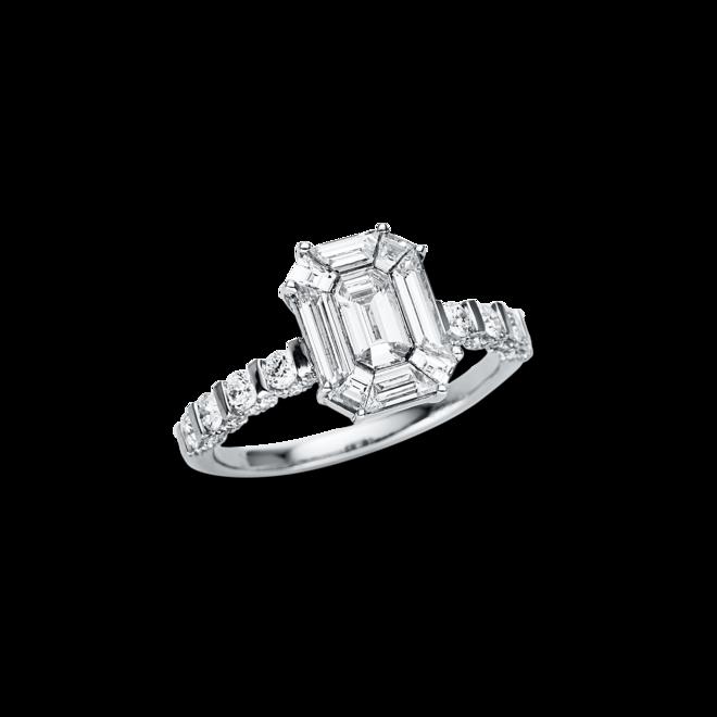 Ring Brogle Selection Illusion aus 750 Weißgold mit 99 Diamanten (1,65 Karat) bei Brogle