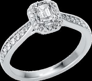 Ring Brogle Selection Illusion aus 750 Weißgold mit 43 Diamanten (0,49 Karat)