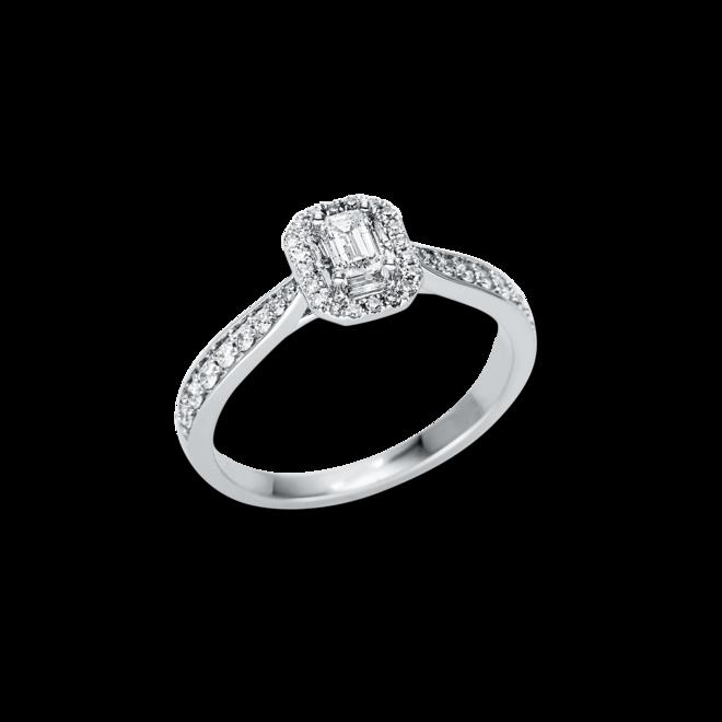 Ring Brogle Selection Illusion aus 750 Weißgold mit 43 Diamanten (0,49 Karat) bei Brogle