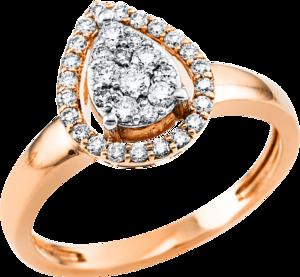 Ring Brogle Selection Illusion aus 750 Roségold und 750 Weißgold mit 34 Brillanten (0,36 Karat)