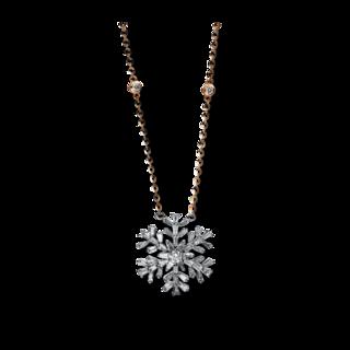 Brogle Selection Halskette mit Anhänger Illusion Schneeflocke 4E187RW8-1