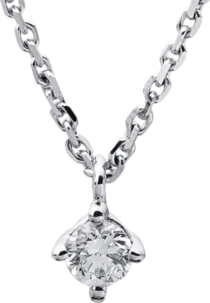Halskette mit Anhänger Brogle Selection Promise aus 585 Weißgold mit 1 Brillant (0,1 Karat)