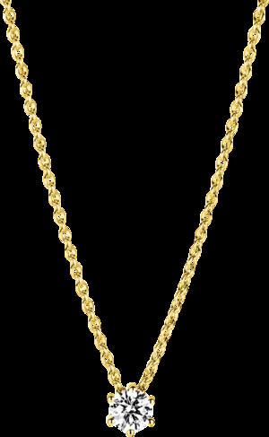 Halskette mit Anhänger Brogle Selection Promise aus 750 Gelbgold mit 1 Brillant (0,25 Karat)