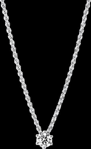 Halskette mit Anhänger Brogle Selection Promise aus 750 Weißgold mit 1 Brillant (0,25 Karat)