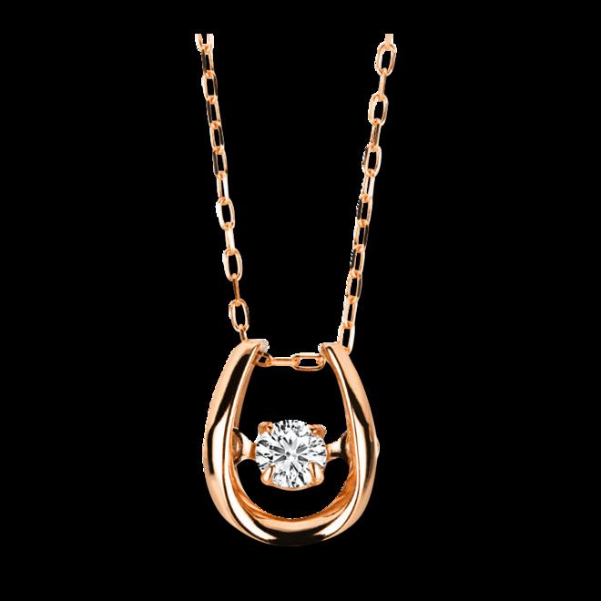 Halskette mit Anhänger Brogle Selection Promise aus 750 Roségold mit 1 Brillant (0,09 Karat) bei Brogle