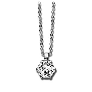 Brogle Selection Halskette mit Anhänger Promise 4D246W8-2