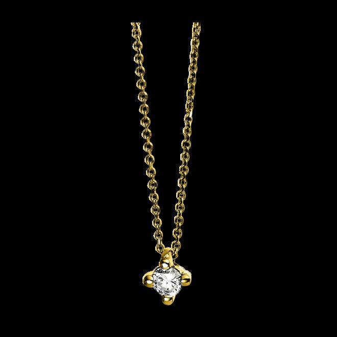 Halskette mit Anhänger Brogle Selection Promise aus 750 Gelbgold mit 1 Brillant (0,07 Karat) bei Brogle