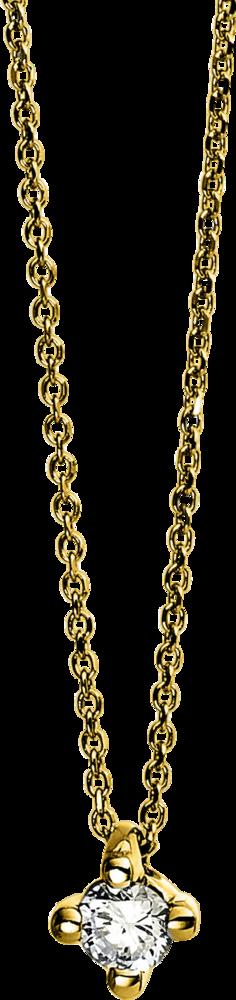 Halskette mit Anhänger Brogle Selection Promise aus 750 Gelbgold mit 1 Brillant (0,07 Karat)