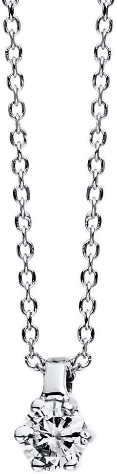 Halskette mit Anhänger Brogle Selection Promise aus 750 Weißgold mit 1 Brillant (0,07 Karat)