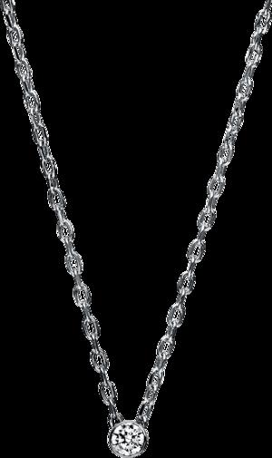 Halskette mit Anhänger Brogle Selection Promise aus 750 Weißgold mit 1 Brillant (0,05 Karat)