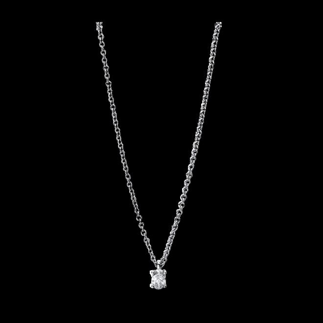 Halskette mit Anhänger Brogle Selection Promise aus 750 Weißgold mit 1 Diamant (0,1 Karat) bei Brogle