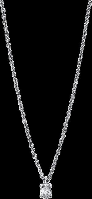 Halskette mit Anhänger Brogle Selection Promise aus 750 Weißgold mit 1 Diamant (0,1 Karat)