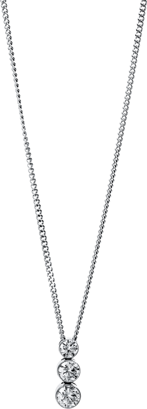 Halskette mit Anhänger Brogle Selection Promise aus 750 Weißgold mit 3 Brillanten (0,25 Karat)