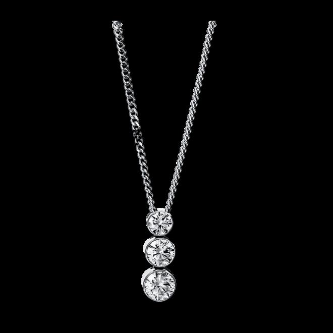 Halskette mit Anhänger Brogle Selection Promise aus 750 Weißgold mit 3 Brillanten (0,25 Karat) bei Brogle