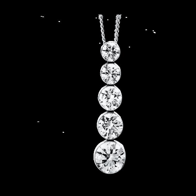 Halskette mit Anhänger Brogle Selection Promise aus 750 Weißgold mit 5 Brillanten (1 Karat) bei Brogle