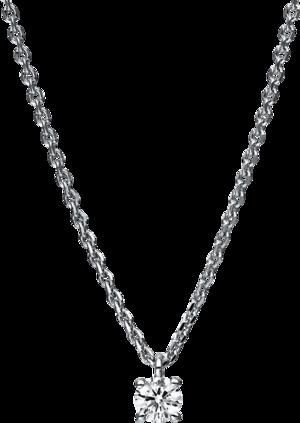 Halskette mit Anhänger Brogle Selection Promise aus 750 Weißgold mit 1 Brillant (0,15 Karat)