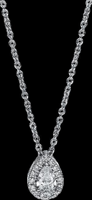 Halskette mit Anhänger Brogle Selection Promise aus 750 Weißgold mit 16 Brillanten (0,31 Karat)
