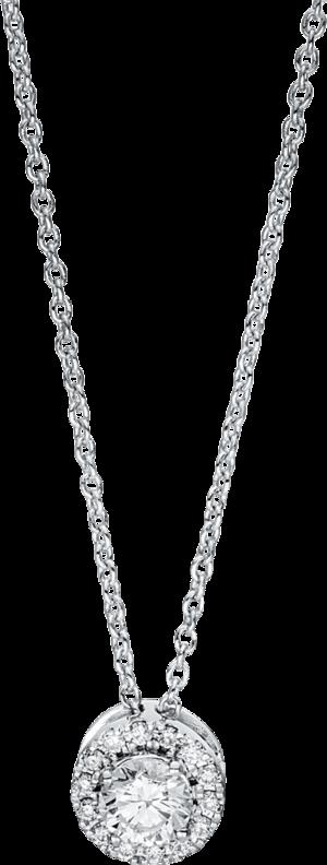 Halskette mit Anhänger Brogle Selection Promise aus 750 Weißgold mit 15 Brillanten (0,31 Karat)