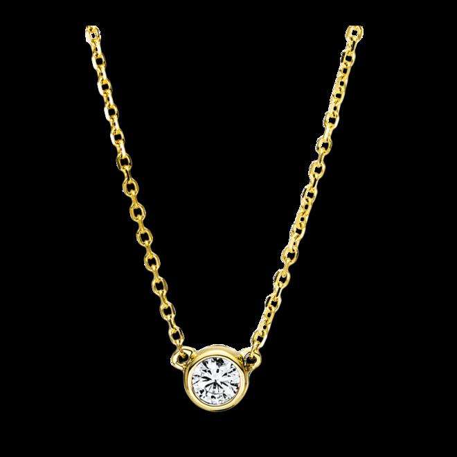 Halskette mit Anhänger Brogle Selection Promise aus 750 Gelbgold mit mehreren Brillanten (0,16 Karat) bei Brogle