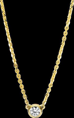 Halskette mit Anhänger Brogle Selection Promise aus 750 Gelbgold mit mehreren Brillanten (0,16 Karat)