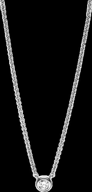 Halskette mit Anhänger Brogle Selection Promise aus 750 Weißgold mit 1 Brillant (0,08 Karat)