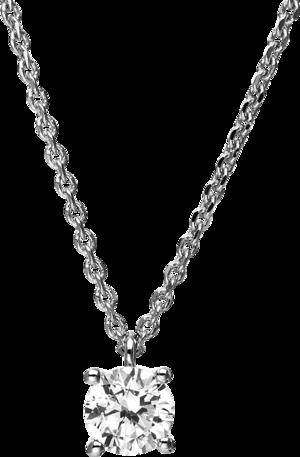 Halskette mit Anhänger Brogle Selection Promise aus 750 Weißgold mit 1 Brillant (0,75 Karat)