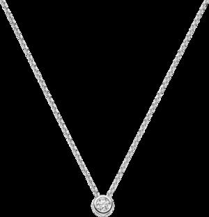 Halskette mit Anhänger Brogle Selection Promise aus 750 Weißgold mit 1 Brillant (0,5 Karat)