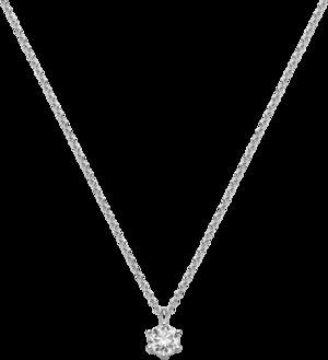 Halskette mit Anhänger Brogle Selection Promise aus 750 Weißgold mit 1 Brillant (0,4 Karat)