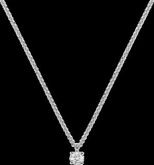 Halskette mit Anhänger Brogle Selection Promise aus 750 Weißgold mit 1 Brillant (0,2 Karat)