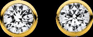 Ohrstecker Brogle Selection Promise aus 750 Gelbgold mit 2 Brillanten (2 x 0,025 Karat)