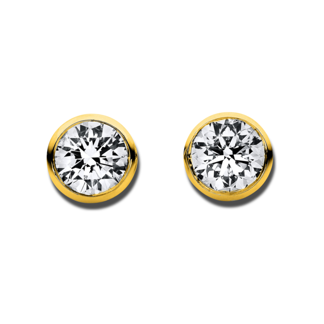 Ohrstecker Brogle Selection Promise aus 750 Gelbgold mit 2 Brillanten (2 x 0,025 Karat) bei Brogle