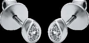 Ohrstecker Brogle Selection Promise aus 750 Weißgold mit 2 Diamanten (2 x 0,15 Karat)